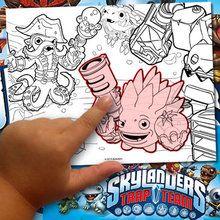 جعل Skylanders التلوين