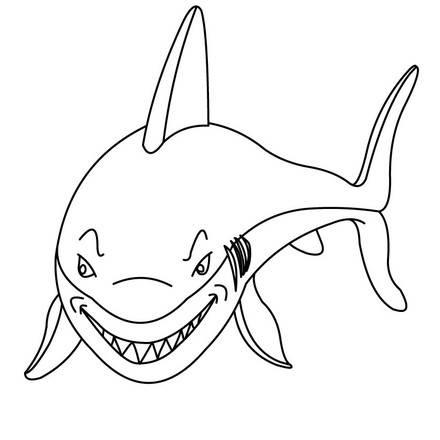 shark 2 01 uyz source - اجمل صور تلوين صور القرش 2016